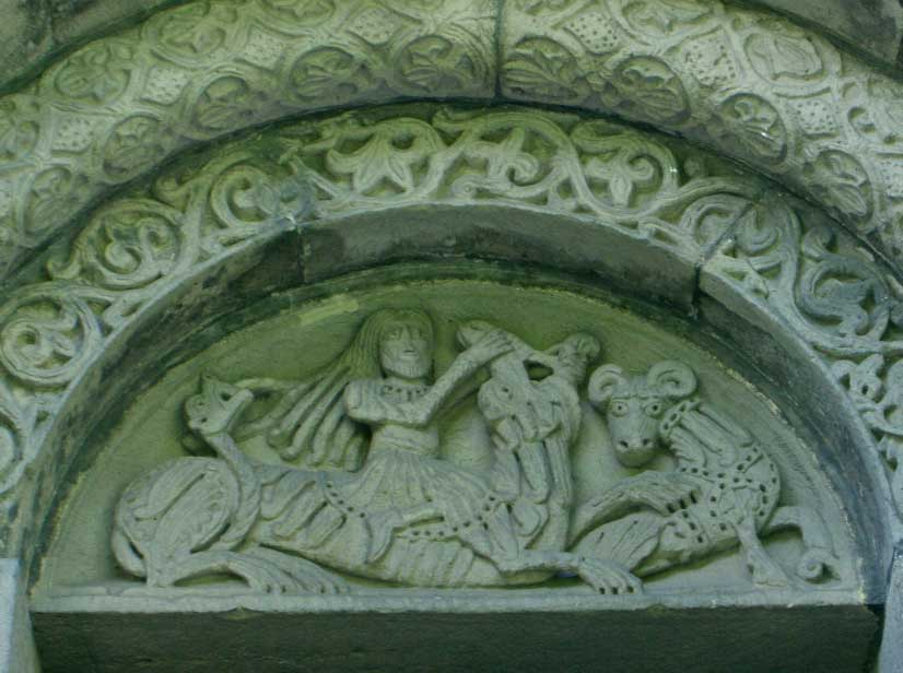 lintel carving, Lund Cathedral, Sweden
